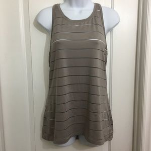 EUC ATHLETA Chi Mesh Stripe Tank Medium